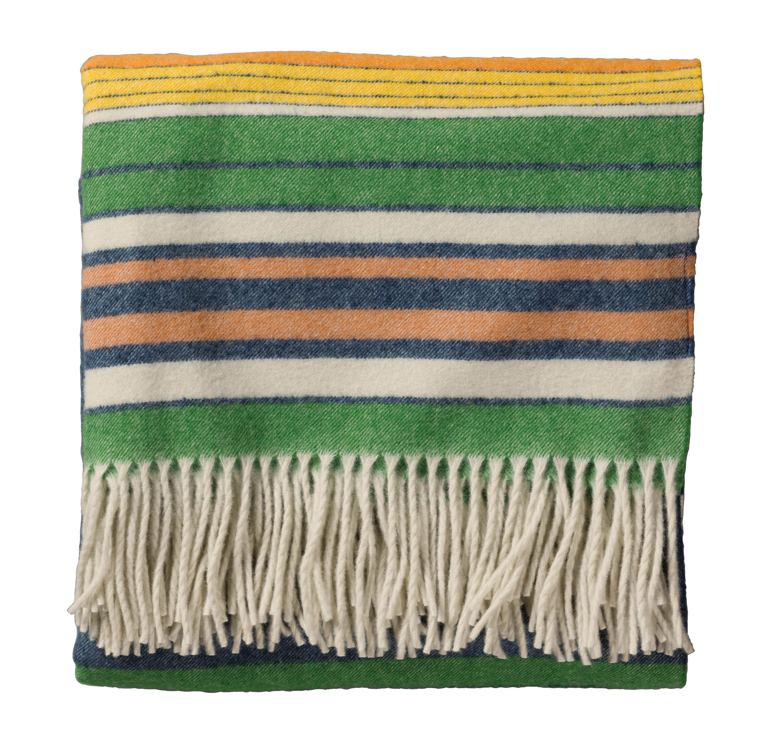 5th Avenue Throw - Blue Orange Stripe