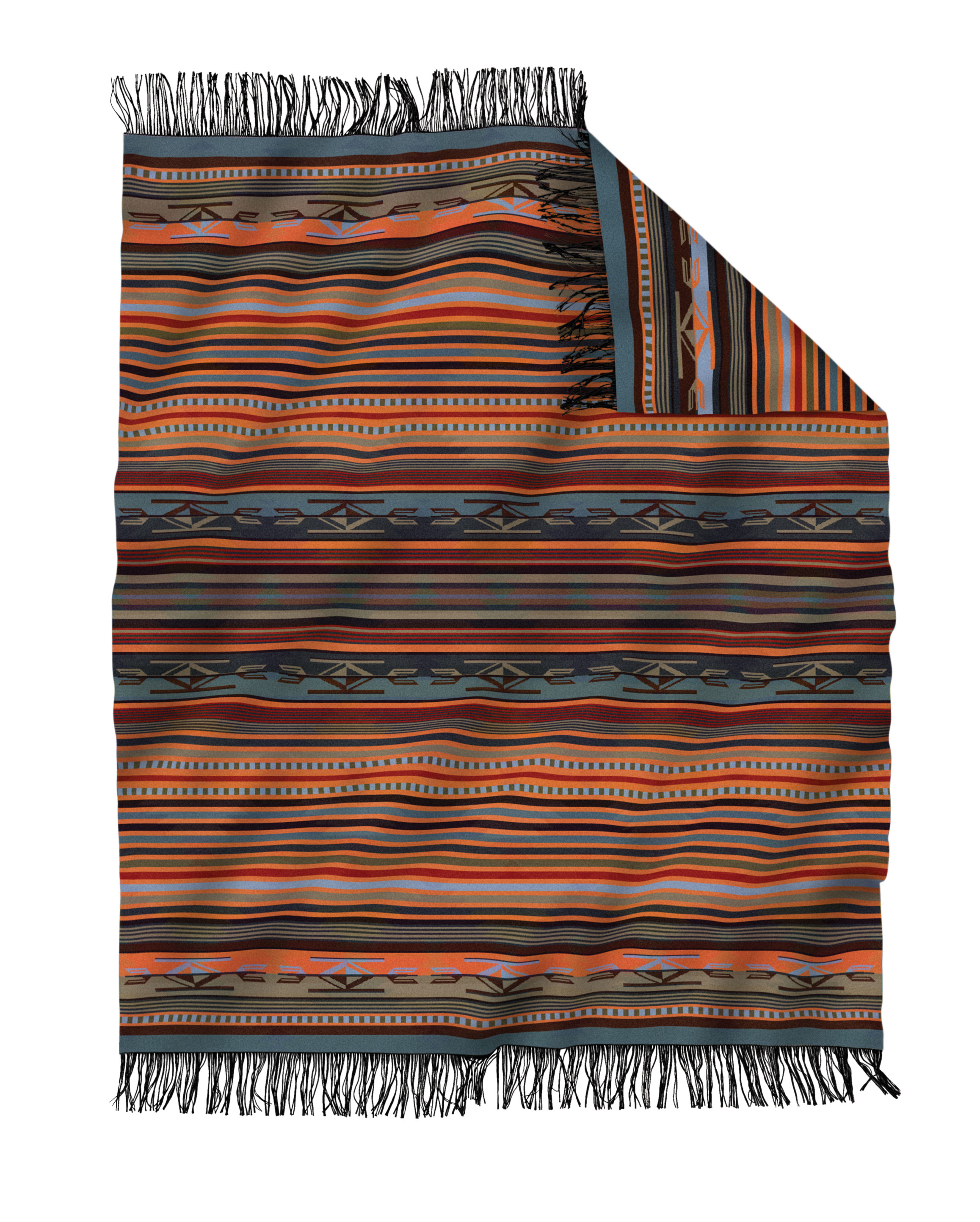 Chimayo Adobe Fringed Throw