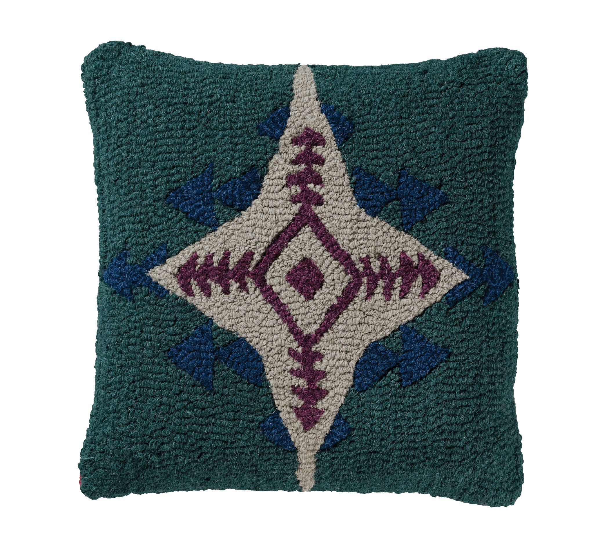 Conejos Hooked Wool Pillow